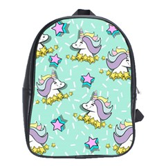 Magical Happy Unicorn And Stars School Bag (xl)