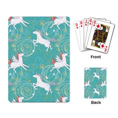 Magical Flying Unicorn Pattern Playing Card