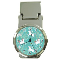 Magical Flying Unicorn Pattern Money Clip Watches