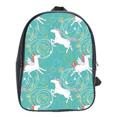 Magical Flying Unicorn Pattern School Bag (large)