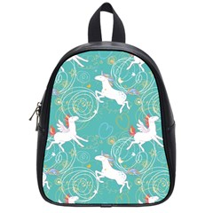 Magical Flying Unicorn Pattern School Bag (small)