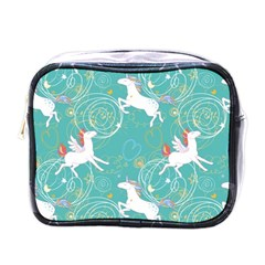 Magical Flying Unicorn Pattern Mini Toiletries Bags