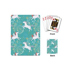 Magical Flying Unicorn Pattern Playing Cards (mini)