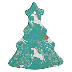 Magical Flying Unicorn Pattern Christmas Tree Ornament (two Sides)