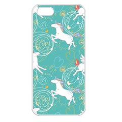 Magical Flying Unicorn Pattern Apple Iphone 5 Seamless Case (white)