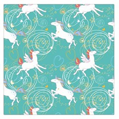 Magical Flying Unicorn Pattern Large Satin Scarf (square)
