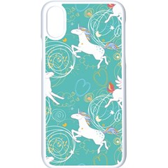 Magical Flying Unicorn Pattern Apple Iphone X Seamless Case (white)