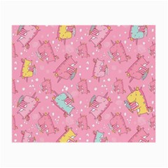 Unicorns Eating Ice Cream Pattern Small Glasses Cloth (2 Side)