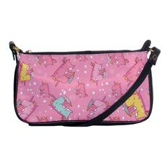 Unicorns Eating Ice Cream Pattern Shoulder Clutch Bags