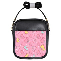 Unicorns Eating Ice Cream Pattern Girls Sling Bags
