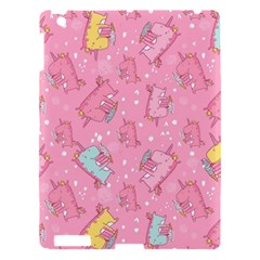 Unicorns Eating Ice Cream Pattern Apple Ipad 3/4 Hardshell Case