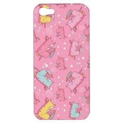 Unicorns Eating Ice Cream Pattern Apple Iphone 5 Hardshell Case