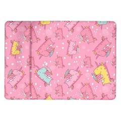 Unicorns Eating Ice Cream Pattern Samsung Galaxy Tab 10 1  P7500 Flip Case