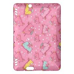 Unicorns Eating Ice Cream Pattern Kindle Fire Hdx Hardshell Case