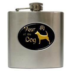 Year Of The Dog   Chinese New Year Hip Flask (6 Oz)