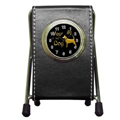 Year Of The Dog   Chinese New Year Pen Holder Desk Clocks