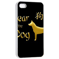 Year Of The Dog   Chinese New Year Apple Iphone 4/4s Seamless Case (white)
