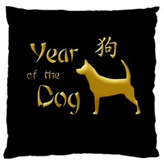 Year Of The Dog   Chinese New Year Large Flano Cushion Case (two Sides)