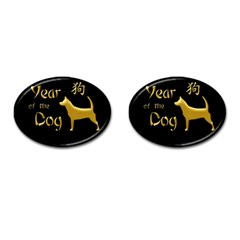 Year Of The Dog   Chinese New Year Cufflinks (oval)
