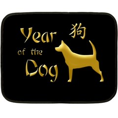 Year Of The Dog   Chinese New Year Double Sided Fleece Blanket (mini)