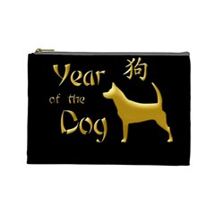 Year Of The Dog   Chinese New Year Cosmetic Bag (large)