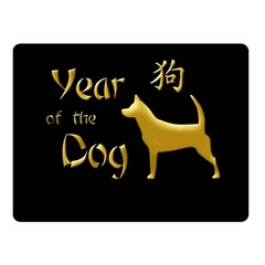 Year Of The Dog   Chinese New Year Double Sided Fleece Blanket (small)