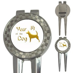 Year Of The Dog   Chinese New Year 3 In 1 Golf Divots