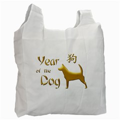 Year Of The Dog   Chinese New Year Recycle Bag (one Side)