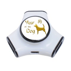 Year Of The Dog   Chinese New Year 3 Port Usb Hub