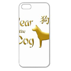 Year Of The Dog   Chinese New Year Apple Seamless Iphone 5 Case (clear)