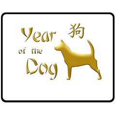 Year Of The Dog   Chinese New Year Double Sided Fleece Blanket (medium)