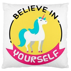 Believe In Yourself Unicorn Large Cushion Case (one Side)