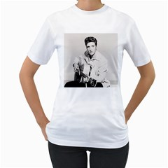 Elvis Presley Women s T Shirt (white) (two Sided)