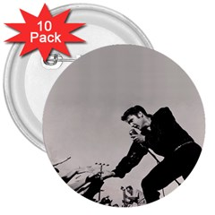 Elvis Presley 3  Buttons (10 Pack)