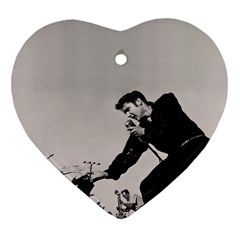 Elvis Presley Heart Ornament (two Sides)