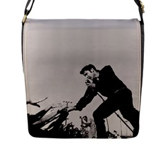 Elvis Presley Flap Messenger Bag (l)