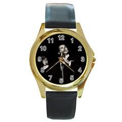 Frank Sinatra  Round Gold Metal Watch