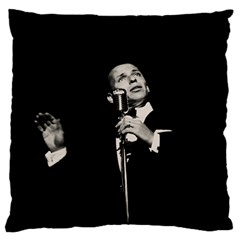Frank Sinatra  Large Flano Cushion Case (two Sides)