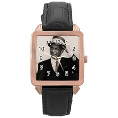 Frank Sinatra  Rose Gold Leather Watch