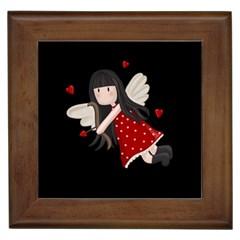 Cupid Girl Framed Tiles
