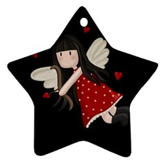 Cupid Girl Ornament (star)