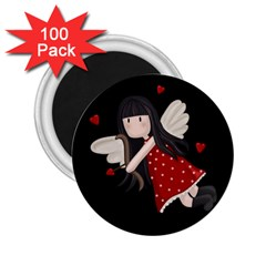 Cupid Girl 2 25  Magnets (100 Pack)