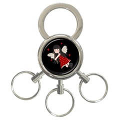 Cupid Girl 3 Ring Key Chains