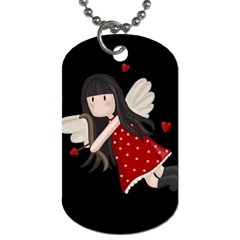 Cupid Girl Dog Tag (two Sides)