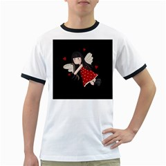 Cupid Girl Ringer T Shirts
