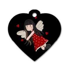 Cupid Girl Dog Tag Heart (one Side)