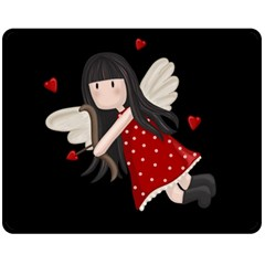 Cupid Girl Fleece Blanket (medium)