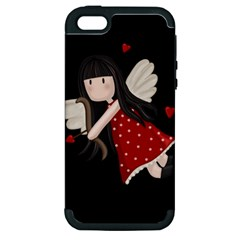 Cupid Girl Apple Iphone 5 Hardshell Case (pc+silicone)
