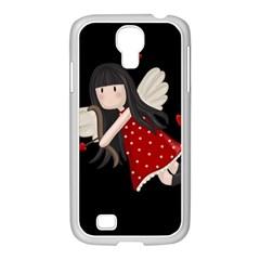 Cupid Girl Samsung Galaxy S4 I9500/ I9505 Case (white)