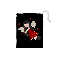 Cupid Girl Drawstring Pouches (small)